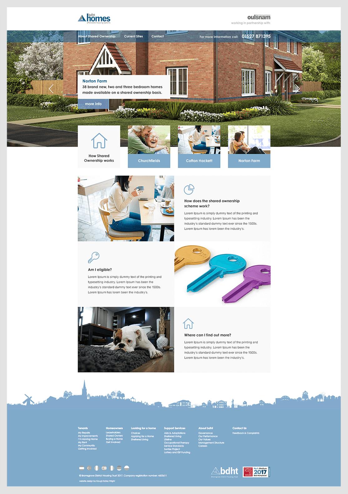 bdht Homes homepage Design