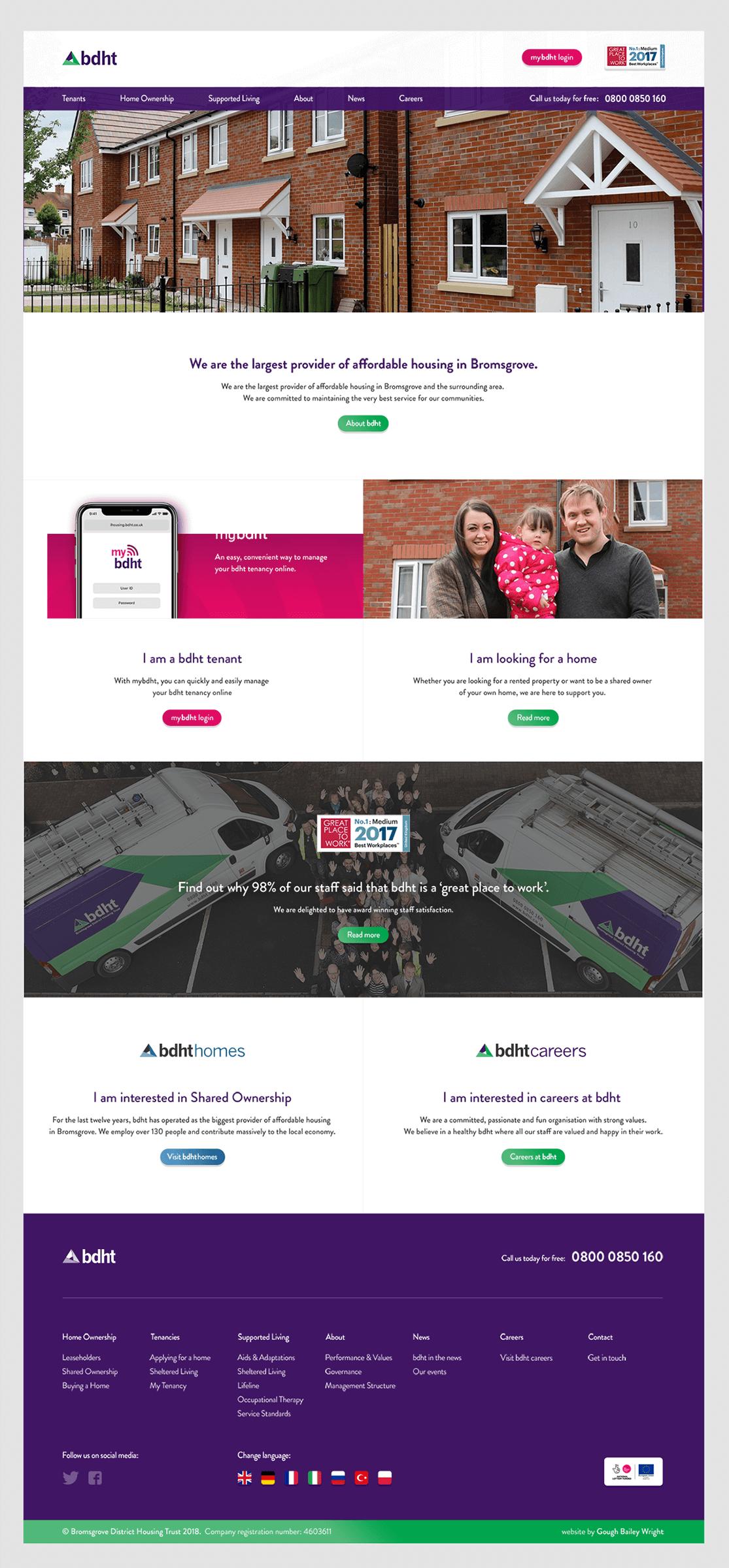 BDHT Homepage Design