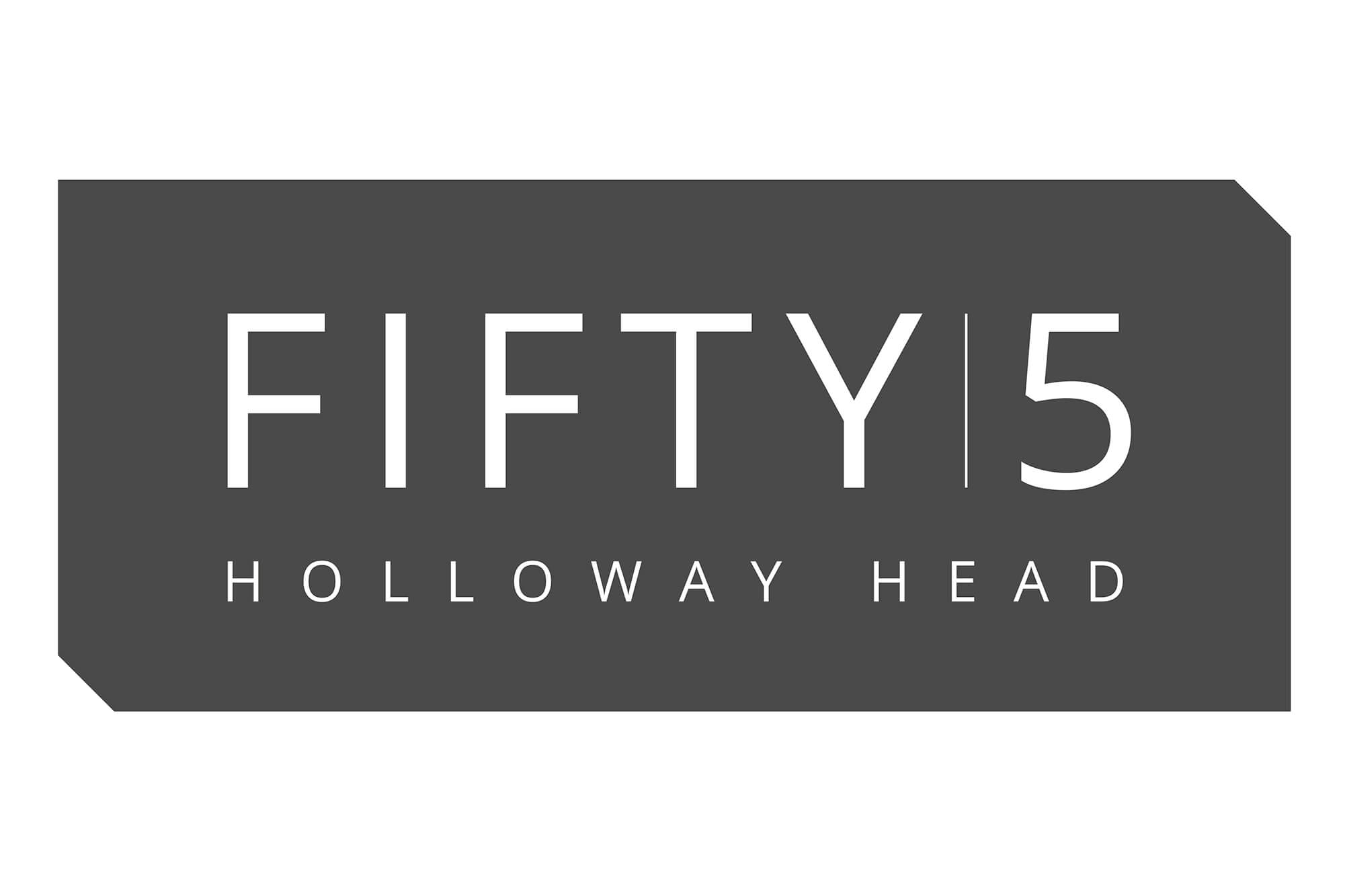 Fifty5 logo negative