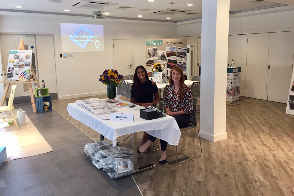 SG and MC on the welcome desk