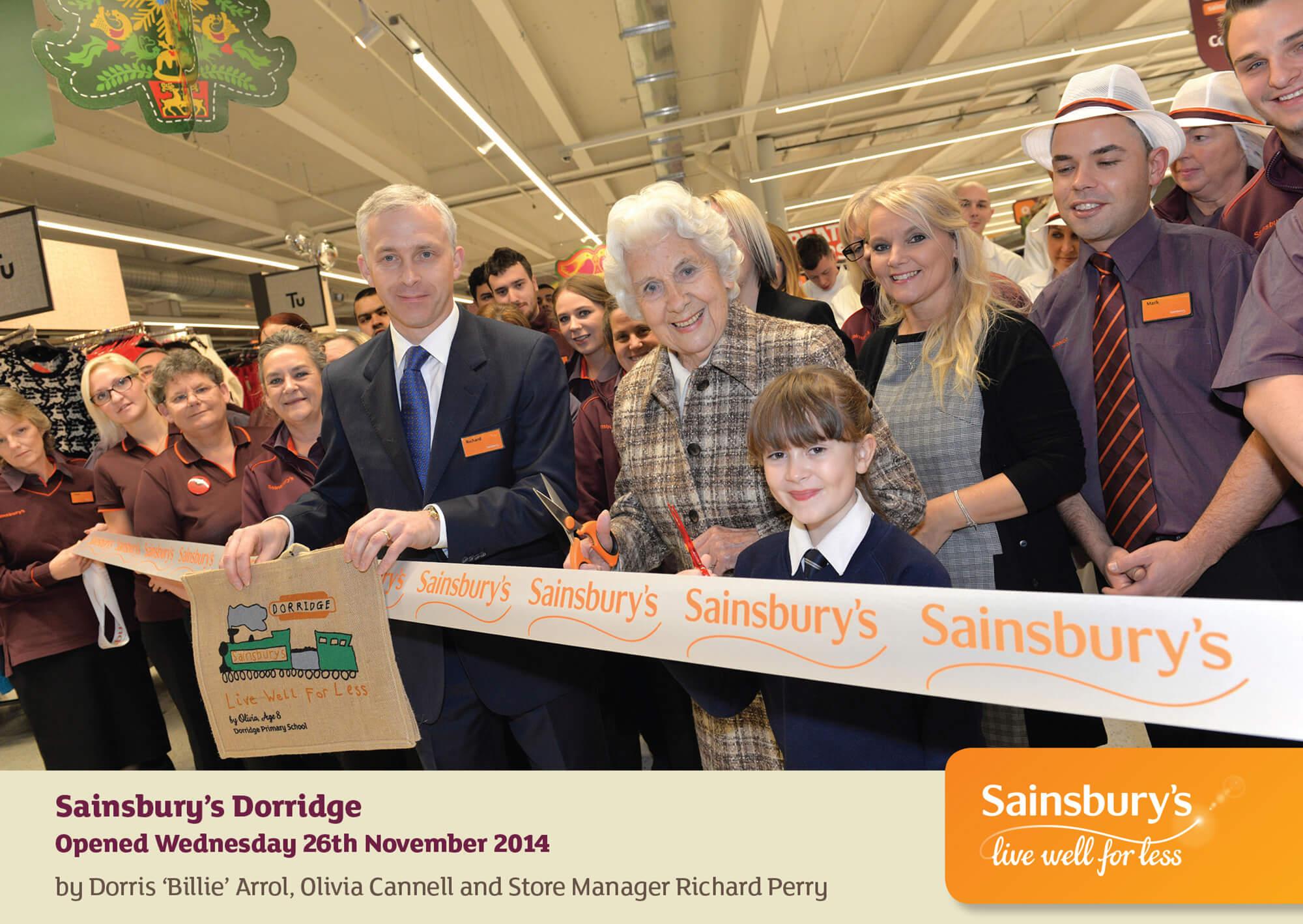Sainsbury's Opening Photo