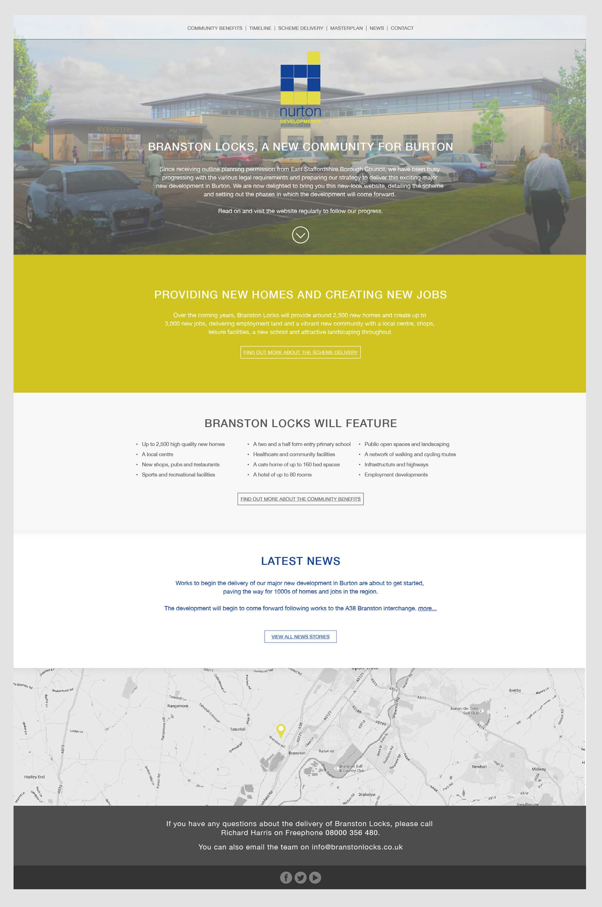 Branston Locks Website Design